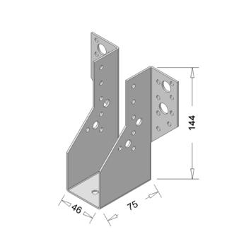 Raveeldrager Verzinkt Zwaar 46x144,5 mm