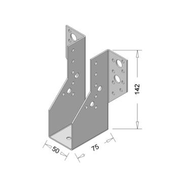 Raveeldrager Verzinkt Zwaar 50x142 mm