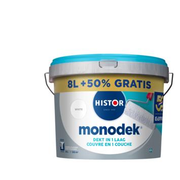Histor Monodek latex wit 8 liter + 50%