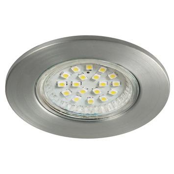 GAMMA inbouwspot LED rond vast 1W aluminium