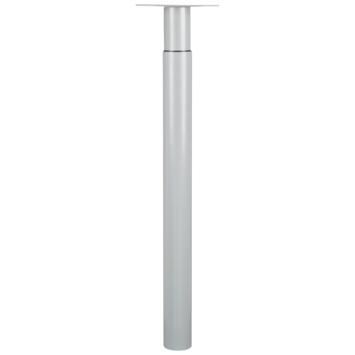Duraline Tafelpoot Tess verstelbaar grijs 70 - 110 cm