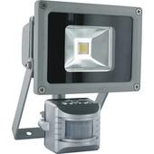 GAMMA breedstraler met bewegingsmelder 10W LED zilver