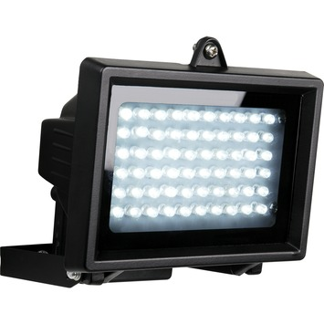 GAMMA breedstraler 4W LED zwart