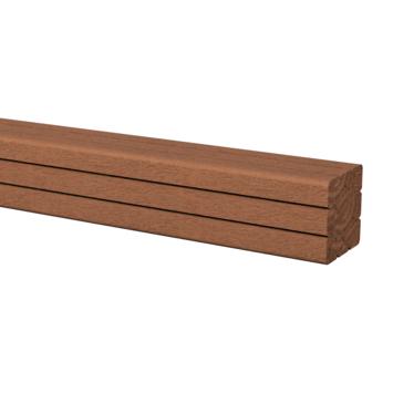 Tuinpaal hardhout ca. 6,5x6,5cm, lengte ca. 240 cm