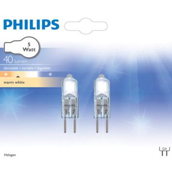 Philips Steeklamp G4 5W 12V helder 2 stuks