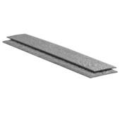 Ecolat recht 1,2m x 14cm x 1cm voor afboording - 4 stuks