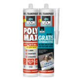 Bison Poly Max crystal universeelkit transparant duoverpakking 2x 300 gram