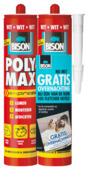 Bison Poly Max express universeelkit wit duoverpakking 2x 435 gram