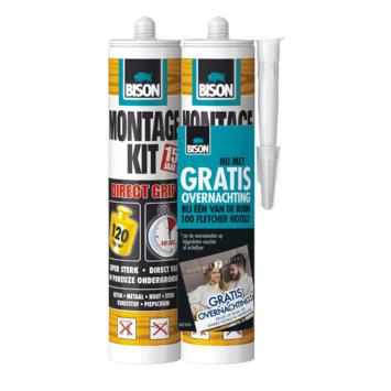 Bison montagekit Direct Grip duoverpakking 2x 370 gram