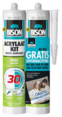 Bison acrylaatkit 30 min. wit duoverpakking 2x 300 ml