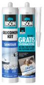 Bison siliconenkit sanitair wit duoverpakking 2x 300 ml
