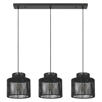 Hanglamp James zwart 3*