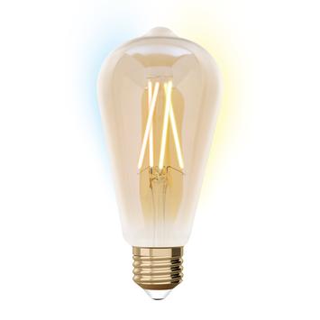 Idual Edison E27 wit filament Amber