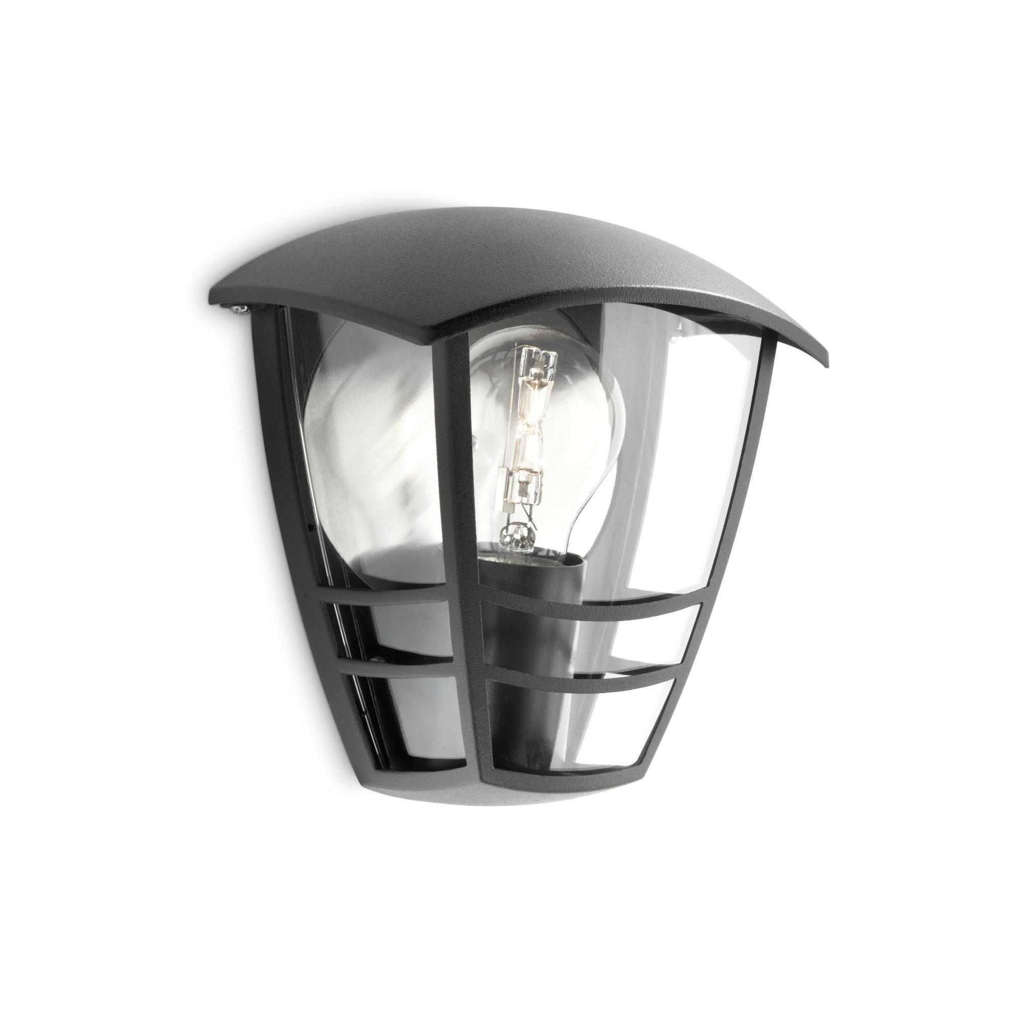 Philips mygarden creek wandlamp 230 v 60 w e27 zwart