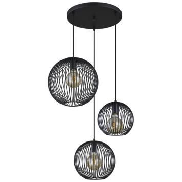 Hanglamp Nikki zwart 3*