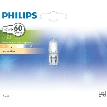 Philips EcoHalo capsulelamp G9 42W warm wit helder
