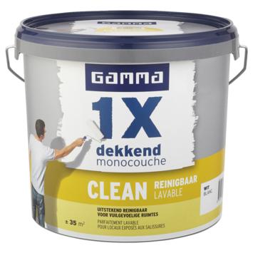 GAMMA muurverf 1x dekkend clean wit 5 liter