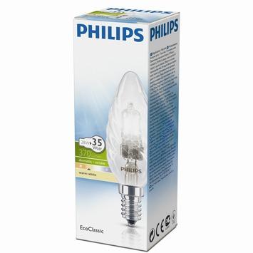 Philips EcoClassic kaarslamp halogeen gedraaid E14 28W warm wit
