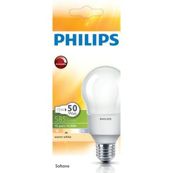Philips Spaarlamp softone 12W E27 grote fitting dimbaar