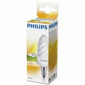 Philips spaarlamp Kaars gedraaid E14 5W warm wit