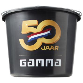 GAMMA 50 jaar bouwemmer zwart 12 liter