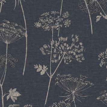 Vliesbehang Wilde bloem blauw 108620