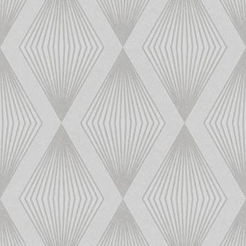 Vliesbehang Chandelier glitter zilver 111783