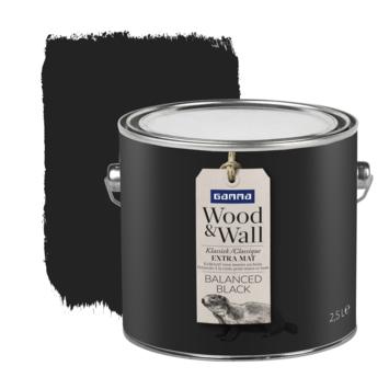 Gamma Wood&Wall krijtverf Balanced Black 2,5 liter