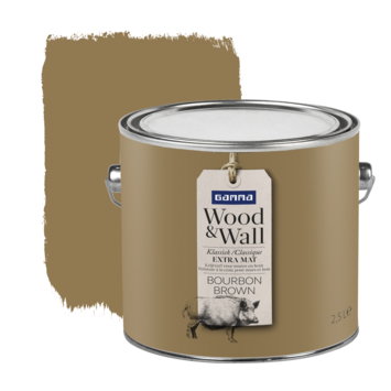 Gamma Wood&Wall krijtverf Bourbon Brown 2,5 liter