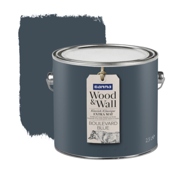Gamma Wood&Wall krijtverf Boulevard Blue 2,5 liter