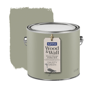 Gamma Wood&Wall krijtverf Gausty Green 2,5 liter
