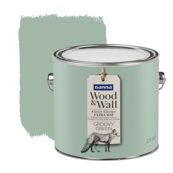 Gamma Wood&Wall krijtverf Groovy Green 2,5 liter