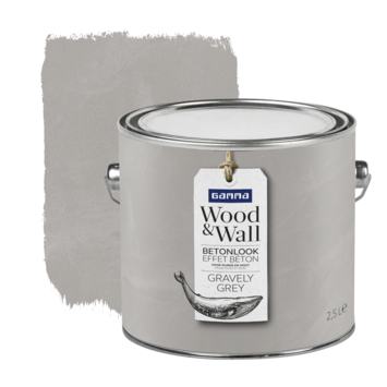 Gamma Wood&Wall betoneffect Gravely Grey 2,5 liter