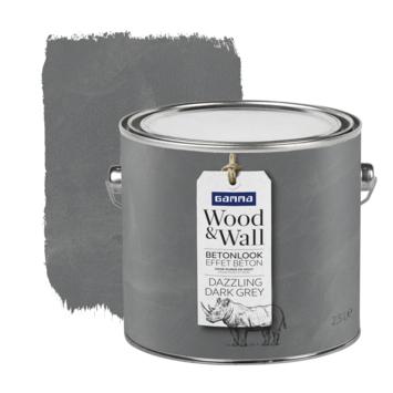 Gamma Wood&Wall betoneffect Dazzling Dark Grey 2,5 liter