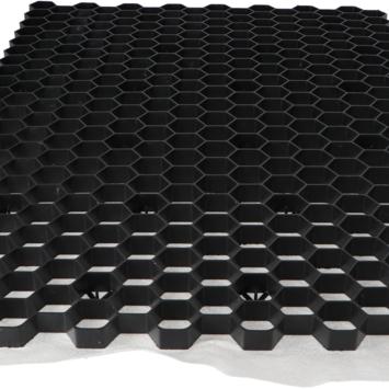 Grindrooster Zwart Kunststof met Worteldoek 119x79 cm