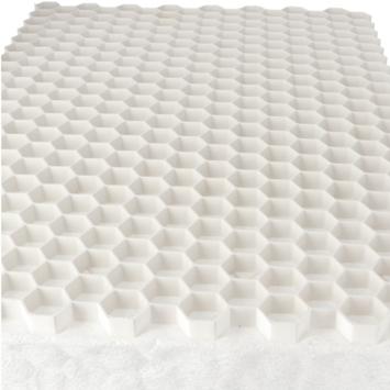 Grindrooster Wit Kunststof met Worteldoek 119x79 cm