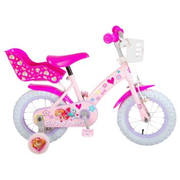 Kinderfiets Paw Patrol 12 inch roze