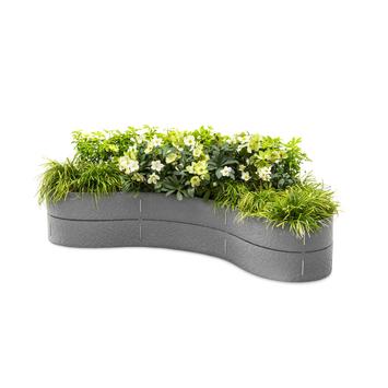 Flex Garden grijs 130 cm 2x14 cm