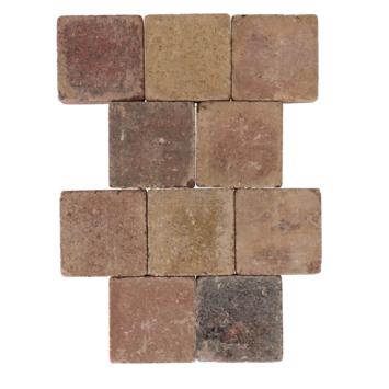 Trommelsteen Bont 14x14x7 cm