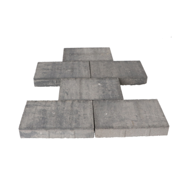 Terrastegel Beton Broadway Grijs/Zwart 30x20x4,7 cm