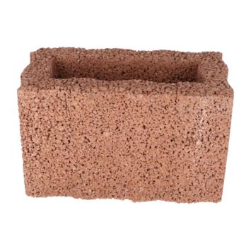 Bloembak Beton Rechthoek Bruin 20x40x25 cm