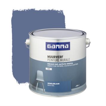 Gamma muurverf hemelsblauw mat 2,5 liter