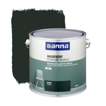 Gamma muurverf woud mat 2,5 liter