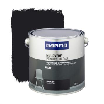 Gamma muurverf gitzwart mat 2,5 liter