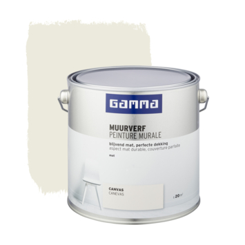 Gamma muurverf canvas mat 2,5 liter