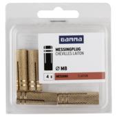 GAMMA plug messing M8 4 stuks