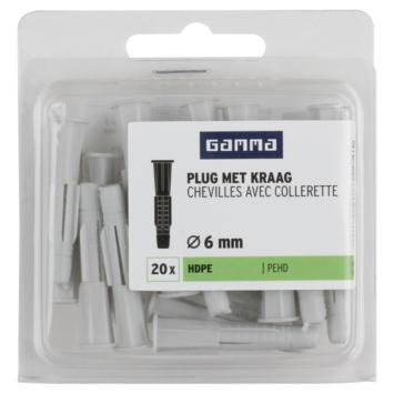 GAMMA plug universeel 6 mm 20 stuks