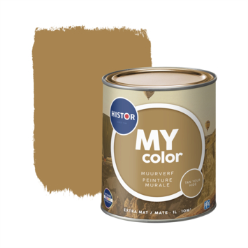 Histor My Color muurverf extra mat tan your hide 1 liter