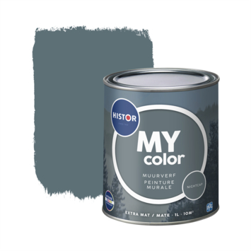 Histor My Color muurverf extra mat night cap 1 liter