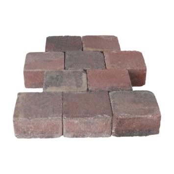 Trommelsteen Rood/Zwart 14x14x7cm